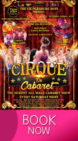 Come and see the Cirque De Cabaret EVERY Saturday Night!!!